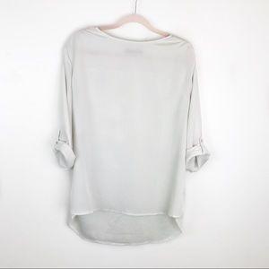 Atmosphere White 3/4 Sleeve Sheer Top